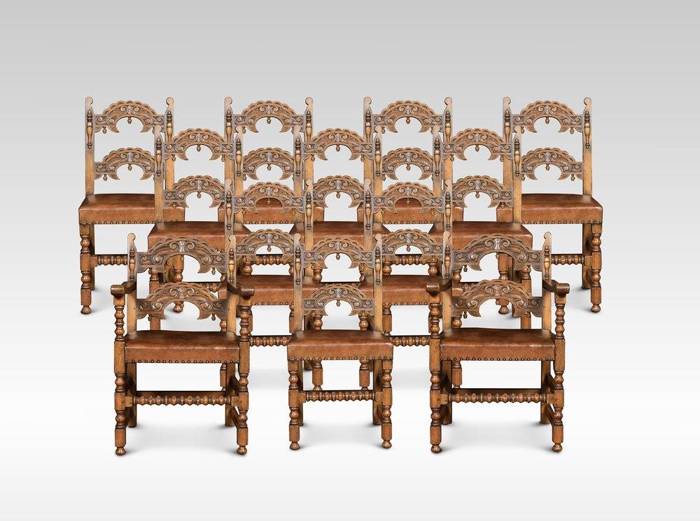 Set Of Twelve Oak Framed Dining Chairs Antiques Atlas