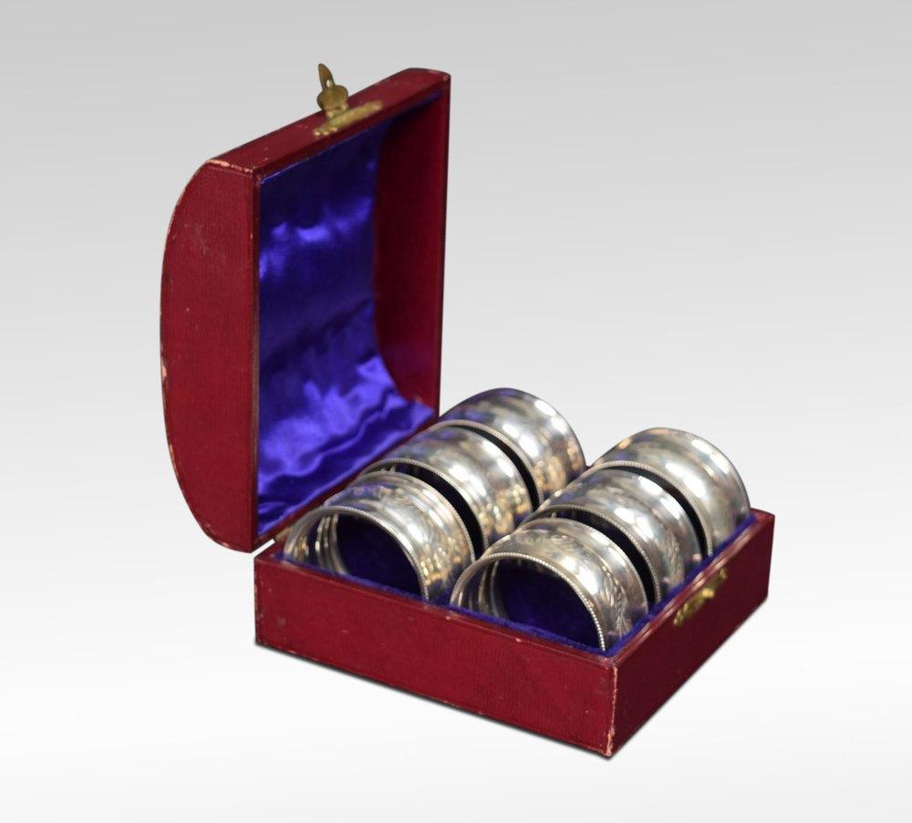 Hallmarked Silver Napkin Rings