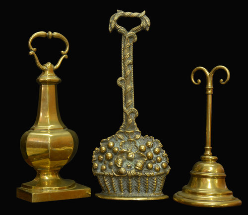 Three victorian brass door stops - Antiques Atlas - Three Victorian Brass Door Stops