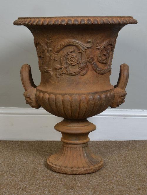 Victorian Cast Iron Garden Urn