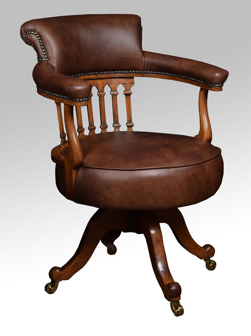 Fabulous Victorian Oak Captains Office Desk Chair Antiques Atlas Uwap Interior Chair Design Uwaporg