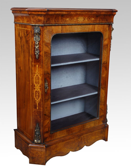 victorian walnut pier cabinet - antiques atlas
