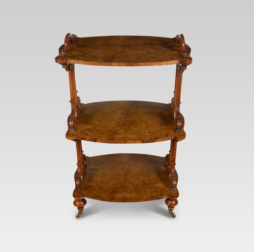 Pleasing Victorian Walnut Three Tier Buffet Beutiful Home Inspiration Cosmmahrainfo