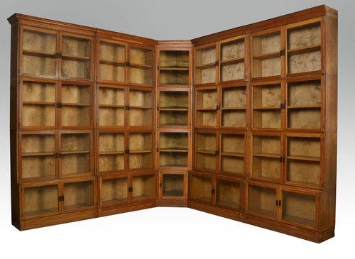 Large Oak Globe Wernicke Style Stacking Bookcase
