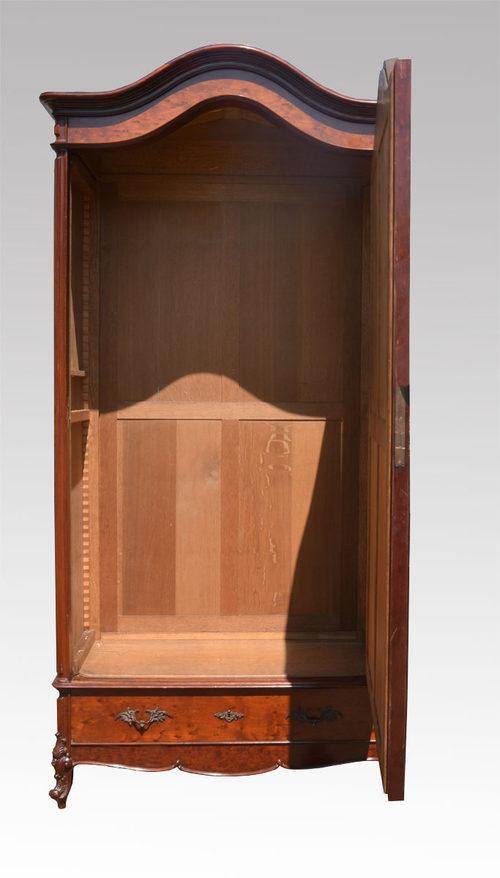 Mahogany Single Door Armoire Wardrobe Antique Armoires