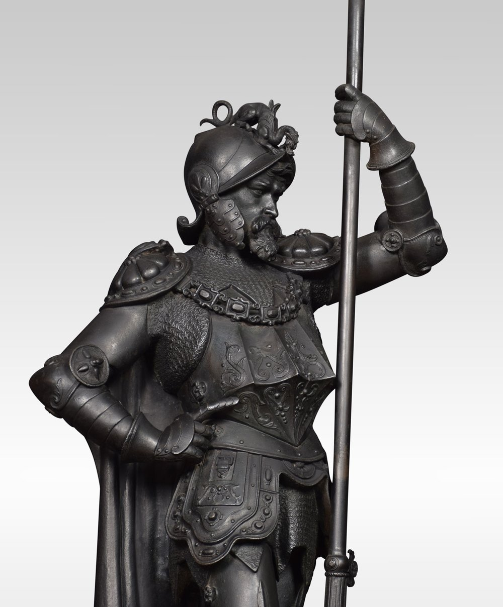 Antiques Atlas - Pair Of 19th Century Cast Iron Figures Of Knights