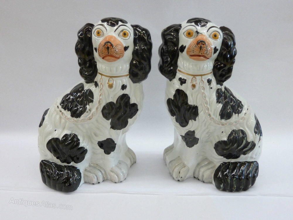 Antique C1870 Staffordshire Dogs