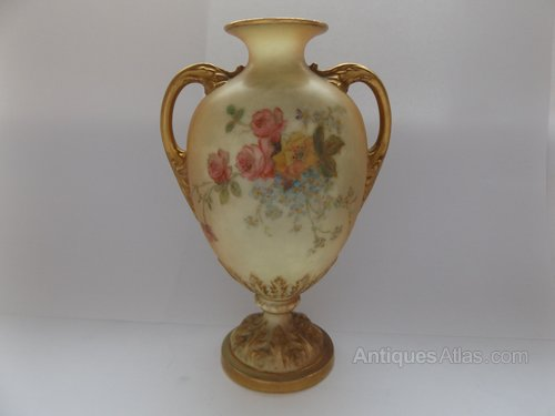 Antiques Atlas Victorian Hand Painted Royal Worcester Vase