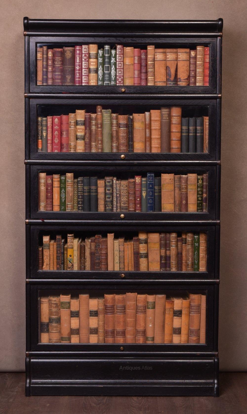 5 Section Globe Wernicke Oak Barrister Bookcase Antiques Atlas
