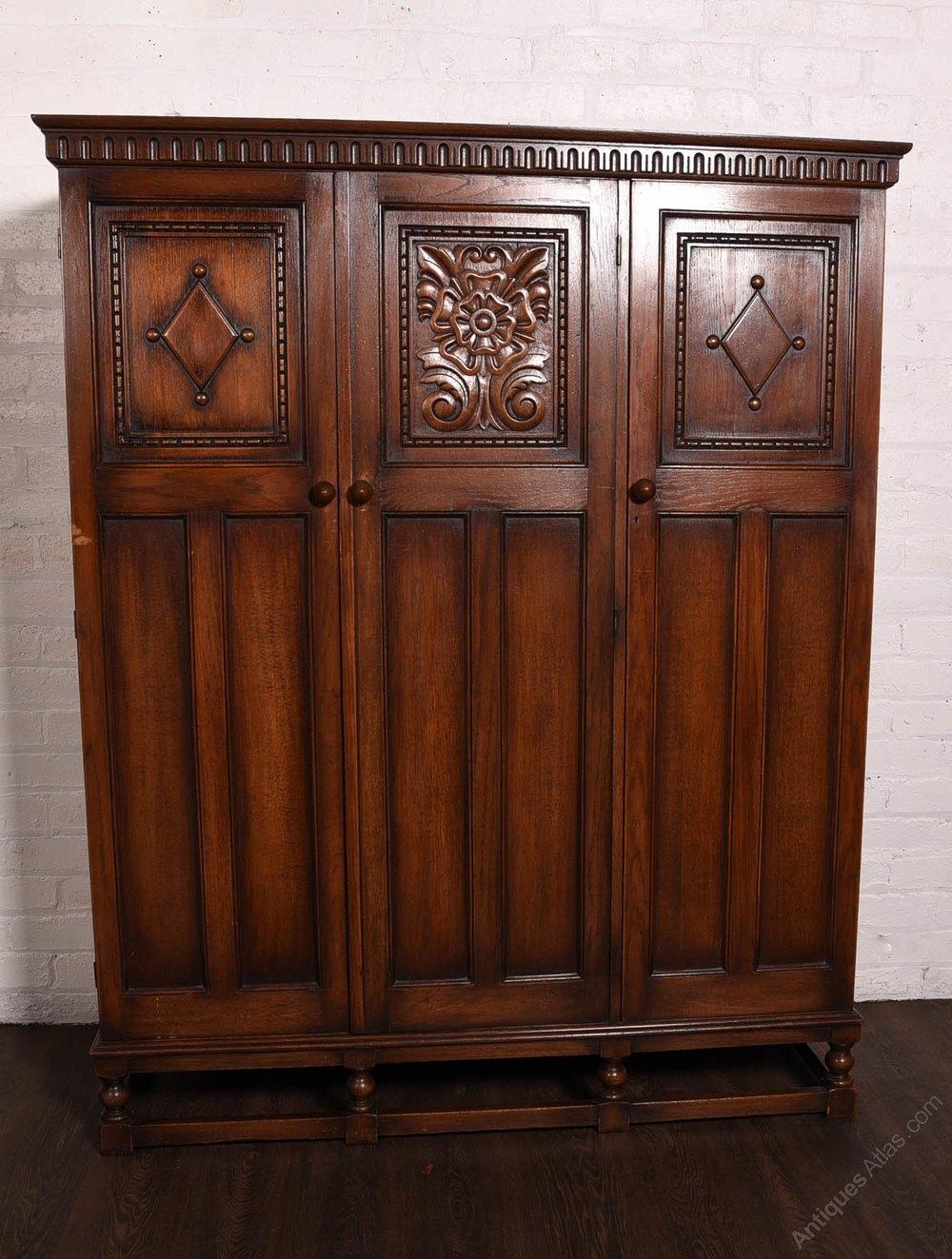 Carved oak piece bedroom suite antiques atlas