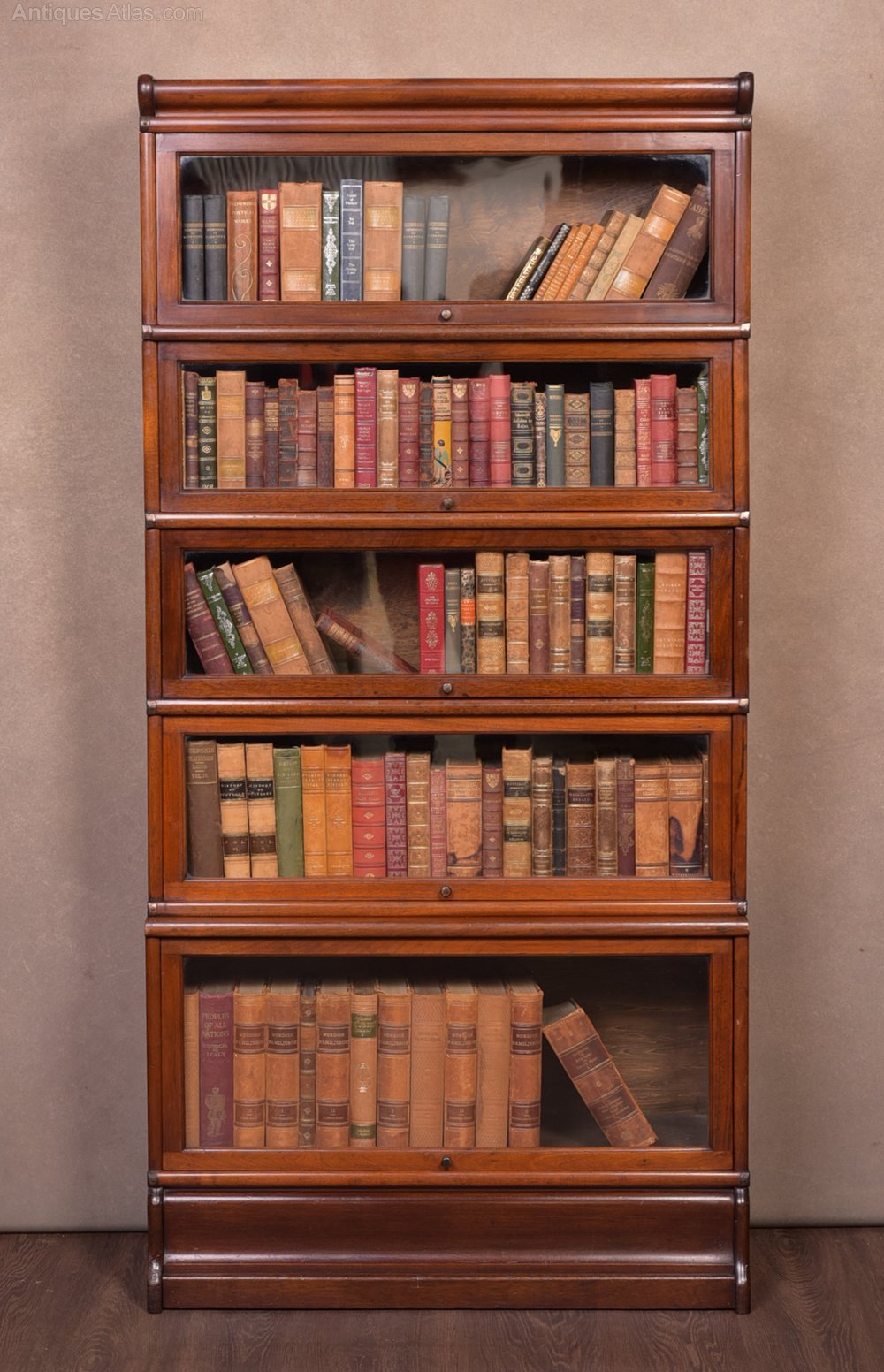 Mahogany 5 Sectioned Lawyers Stacking Bookcase Antiques Atlas