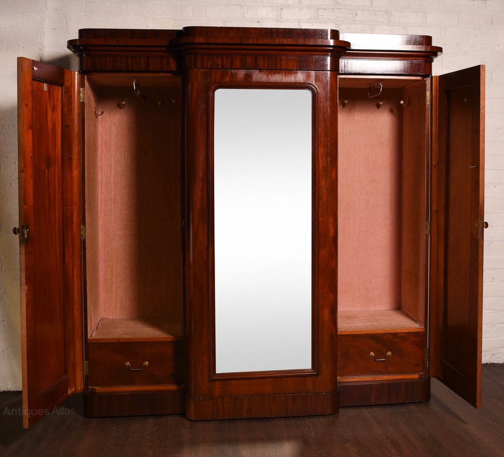 Victorian Morror Door Breakfront Wardrobe Antiques Atlas