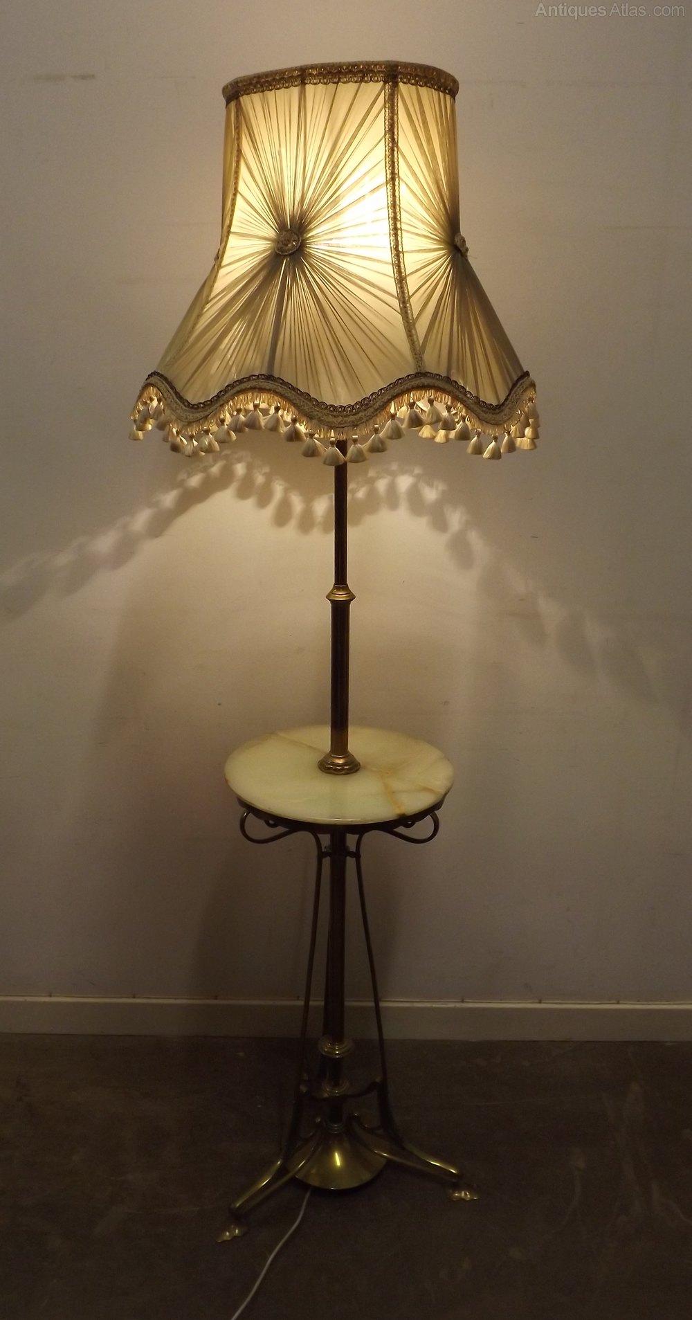 Antiques Atlas Edwardian Art Nouveau Brass Amp Onyx