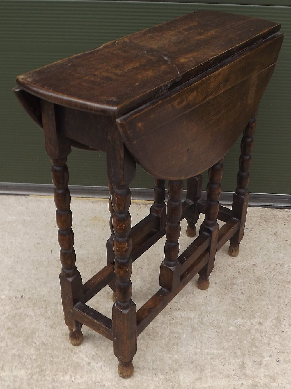 Antique Drop Leaf Table >> Small Victorian Oak Drop Leaf Table Antiques Atlas