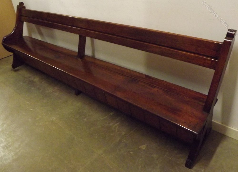 Excellent Victorian 9Ft Solid Pitch Pine Church Pew Bench Antiques Dailytribune Chair Design For Home Dailytribuneorg