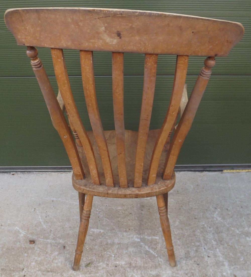 Kitchen Armchairs: Victorian Slat-Back Country Kitchen Armchair