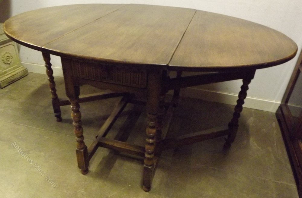 Waring gillow jacobean style dining table post 1940s drop leaf tables antique jacobean