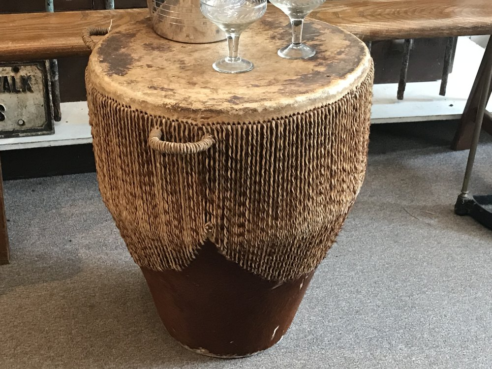 African Drum Coffee Table.African Drum Side Table Antiques Atlas