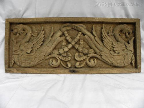 An Antique Carved Wooden Panel