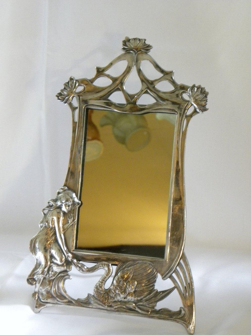 Antiques Atlas - French Art Nouveau Table Mirror