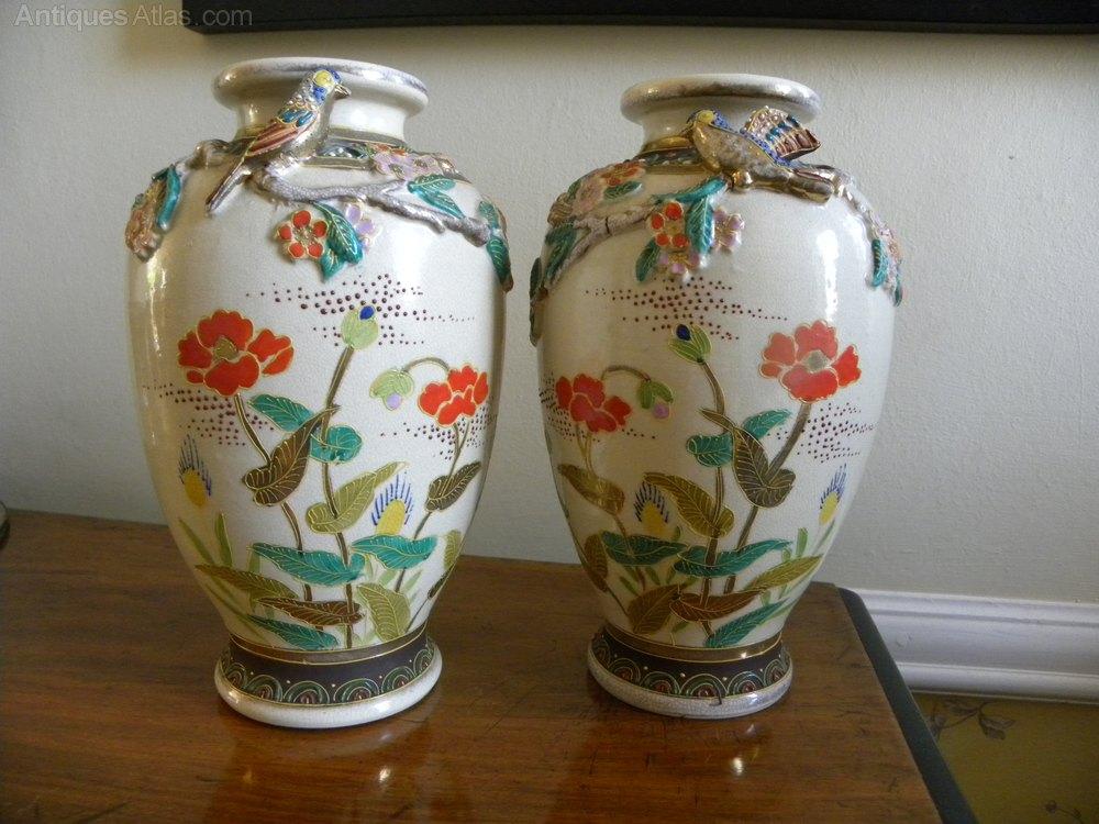 bird design museum matt vases black Asian