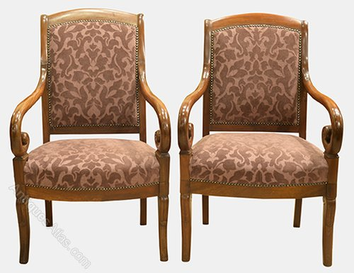 Pair Of French Armchairs Louis Philippe