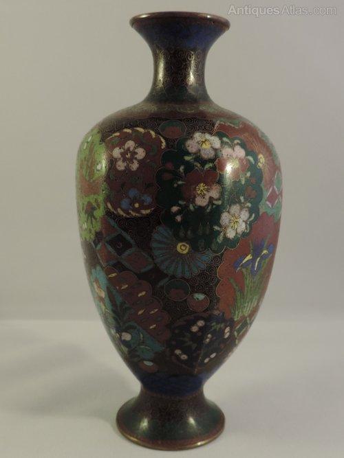 Antiques Atlas Meiji Period Japanese Cloisonne Vase
