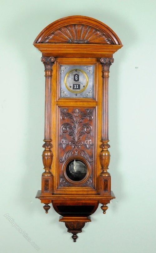 Antiques Atlas - ANTIQUE DIGITAL WALL CLOCK -Pallwebbers Patent