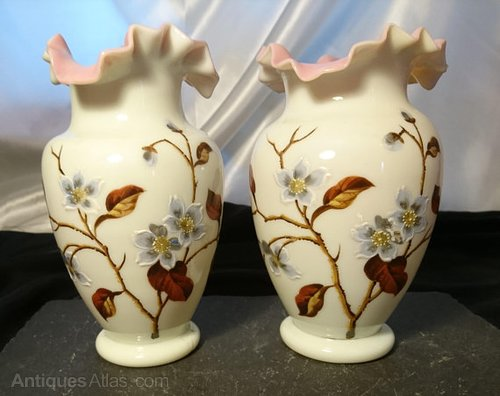 Antiques Atlas Enamelled Vases Antique Primrose Glass