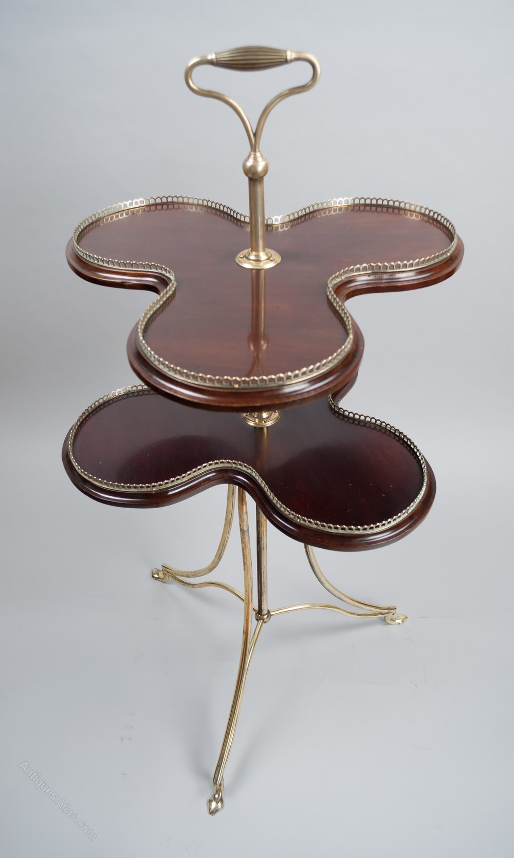 antique cake stands brass and mahogany cake stand c 1890 antiques atlas 1323