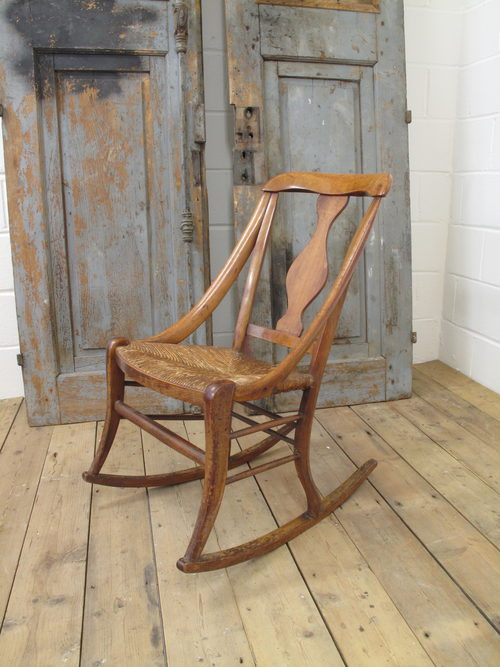 French Cherrywood Rocking Chair, Circa 1900