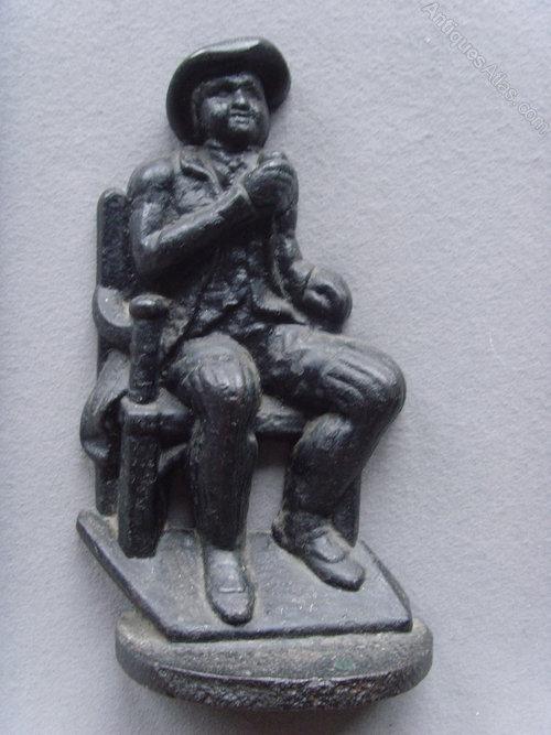19th C. Cast Iron Drinking Man Door Porter/Stop & Antiques Atlas - 19th C. Cast Iron Drinking Man Door Porter/Stop