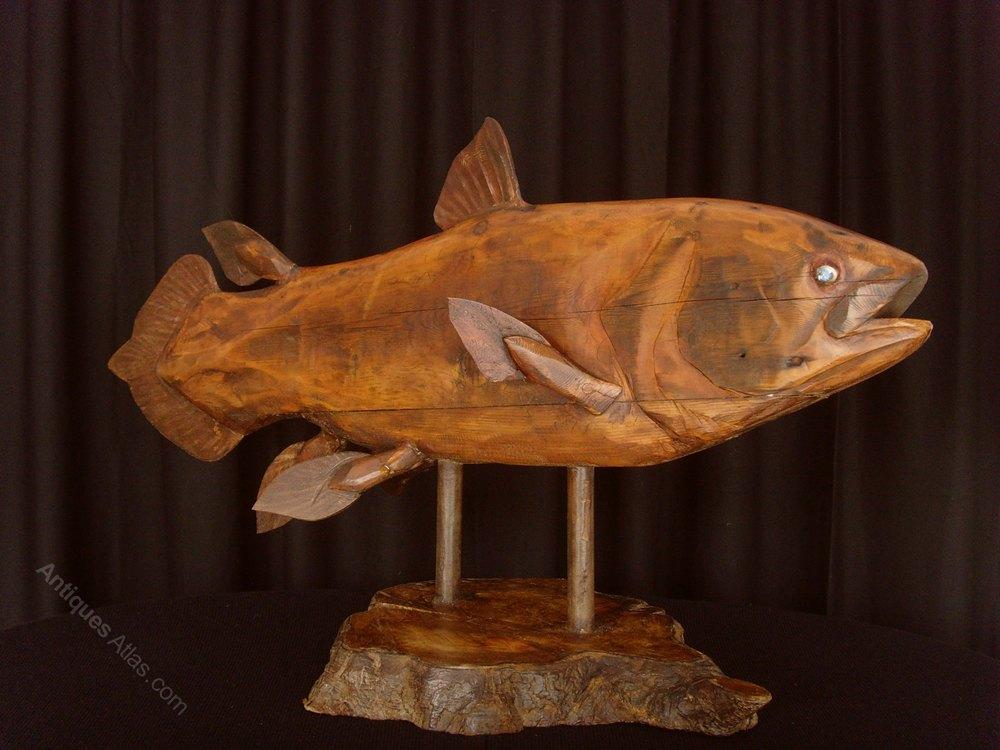 Antiques atlas clive fredriksson wood sculpture of a
