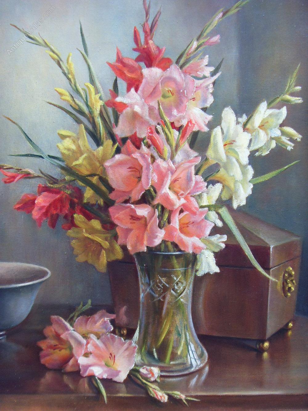 Antiques Atlas Constance Cooper Vpswa Oil Painting Vase