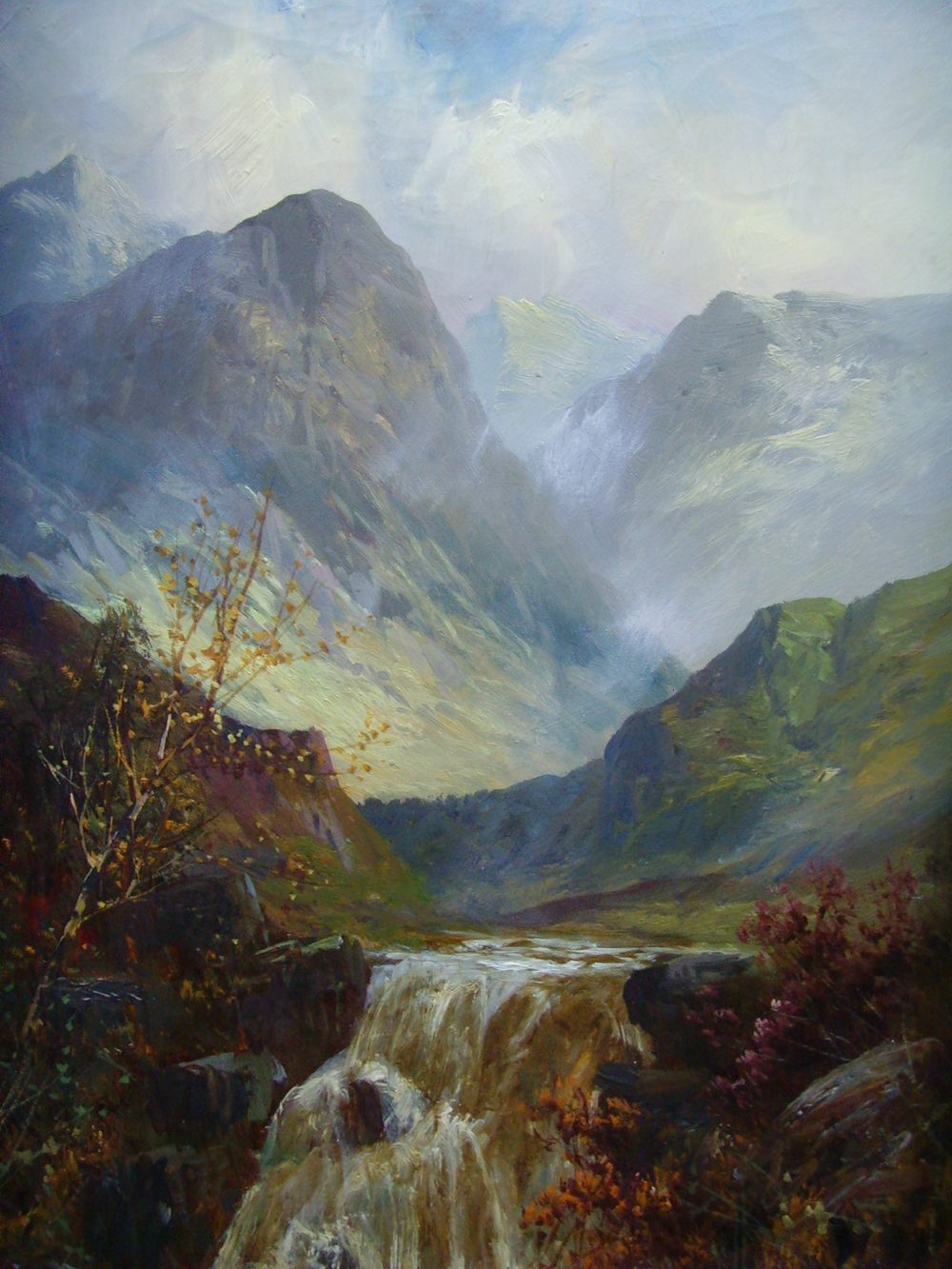 Antiques Atlas - F.E.Jamieson 19C Oil Scottish Waterfall