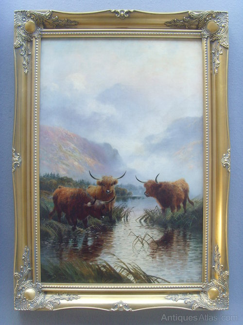 Antiques Atlas Henry R Hall Oil Painting Highland Cattle