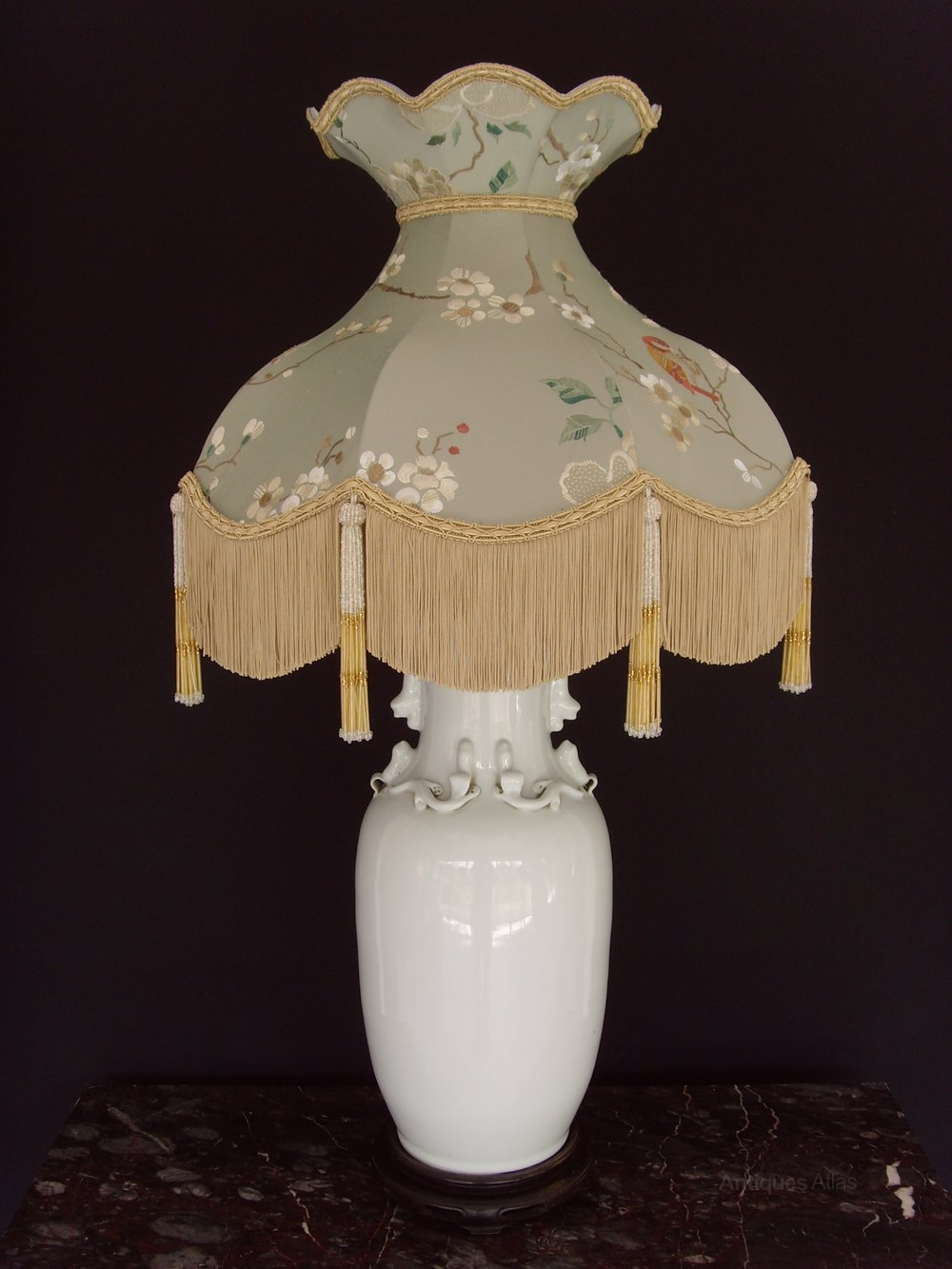 Awesome Large Chinese Vase Table Lamp Downton Abbey Shade ...