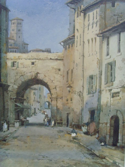 Antiques Atlas Noel Harry Leaver Watercolour Italian Archway
