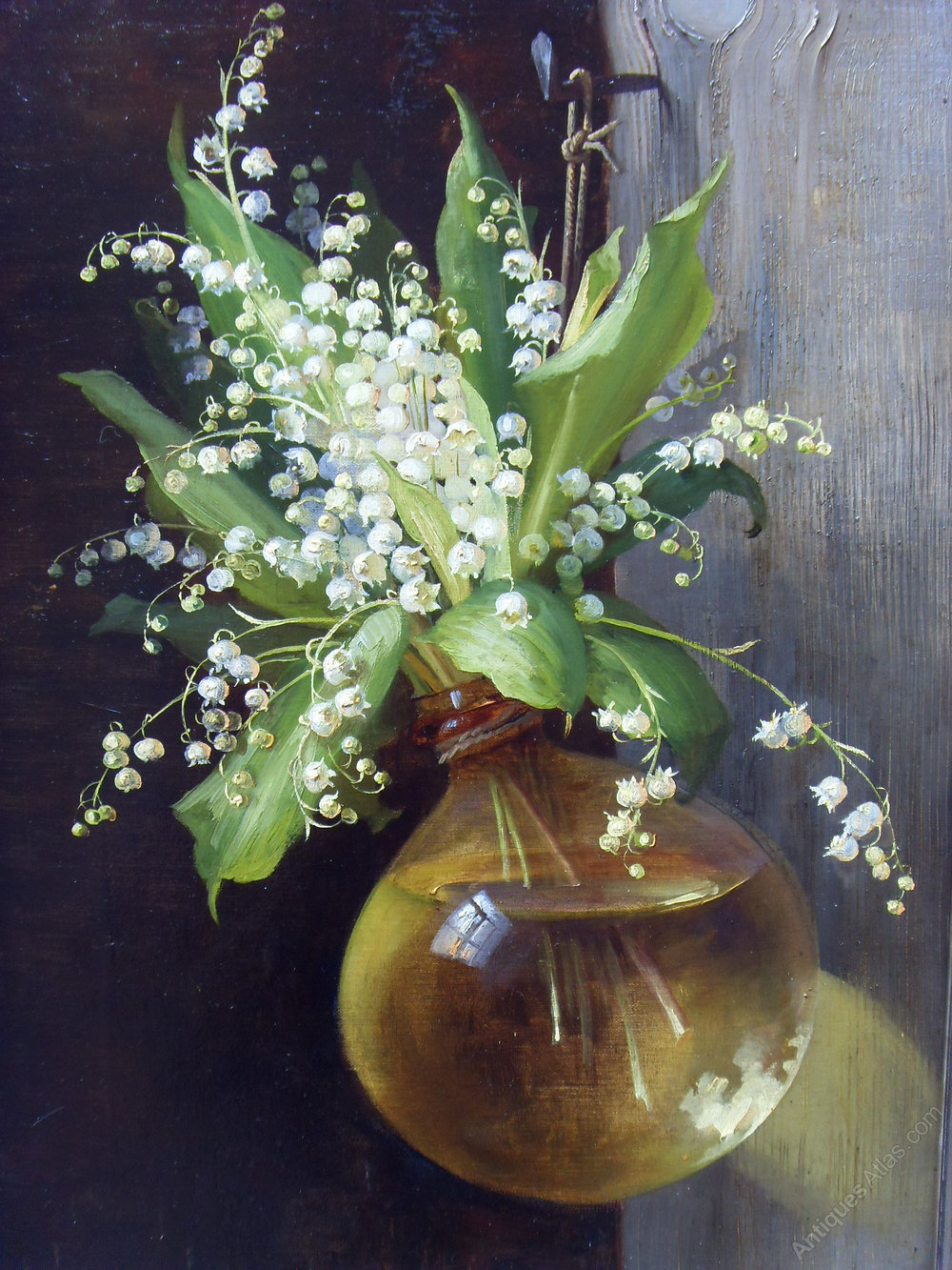 Antiques Atlas Superb 19th C Oil Painting Lily Of The