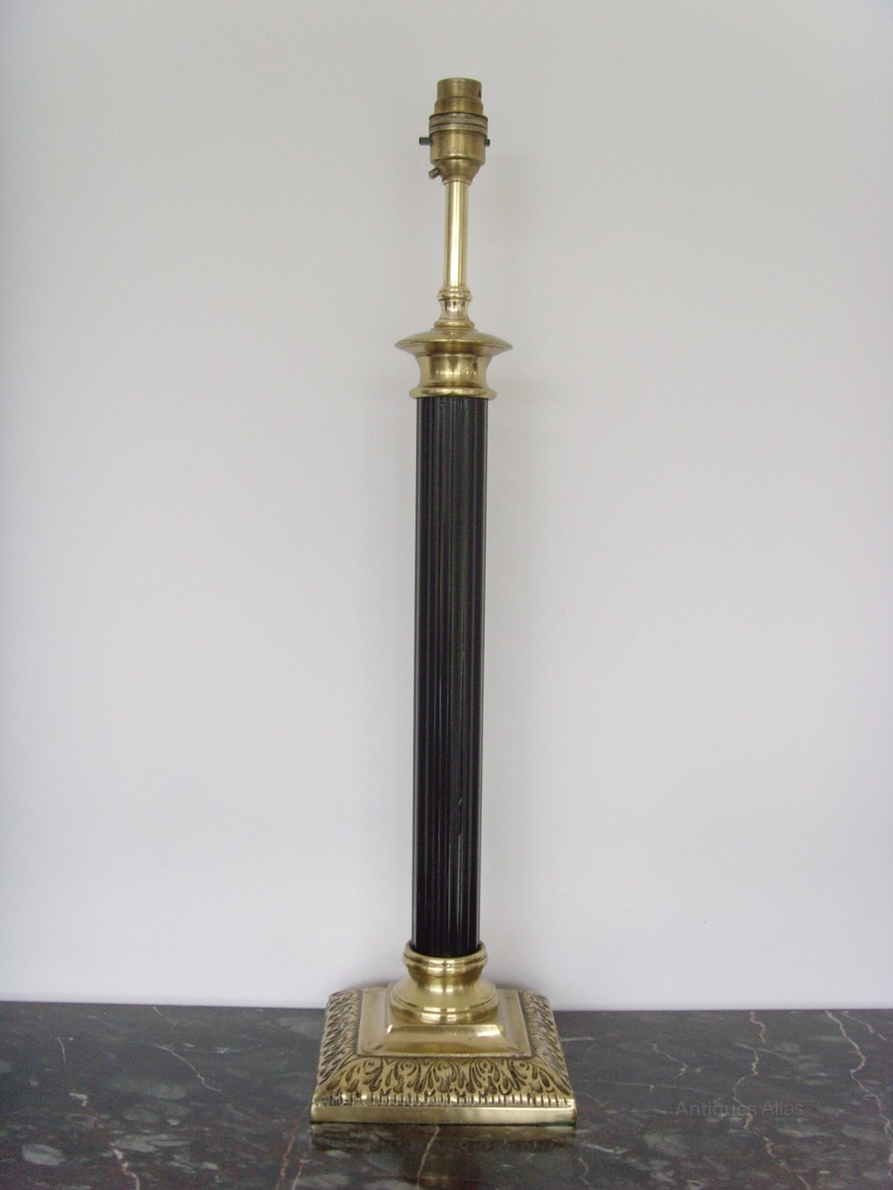 Antiques atlas tall brass doric column table lamp tall brass doric column table lamp geotapseo Choice Image
