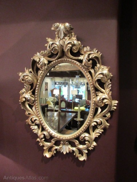 Antiques Atlas 19th Century Timber Silver Gilt Rococo Mirror