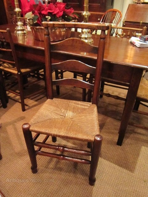 ... Antique Rush Seat Chairs ...