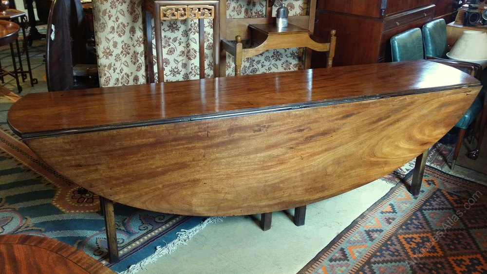 An Irish George Iii Mahogany Wake Table Dining