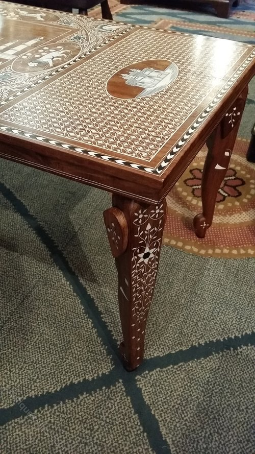 ... Anglo Indian Coffee Table Hoshiarpur Region In India Ivory Bone Ebony  Side Occasional Centre ...