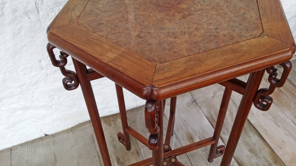 Antique Miscellaneous Furniture Chinese Export Huanghuali Folding Table Washstand Metamorphic Side