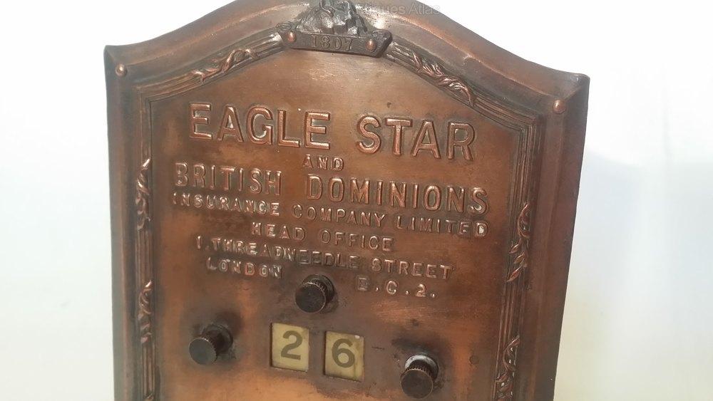 Antiques Atlas - Eagle Star Insurance Company Perpetual Calendar