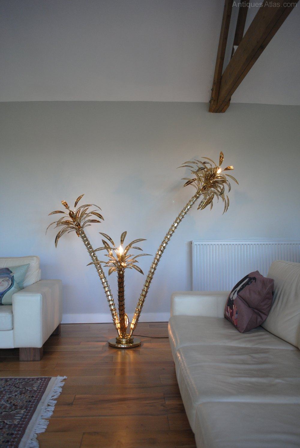 Vintage Italian Brass Palm Tree