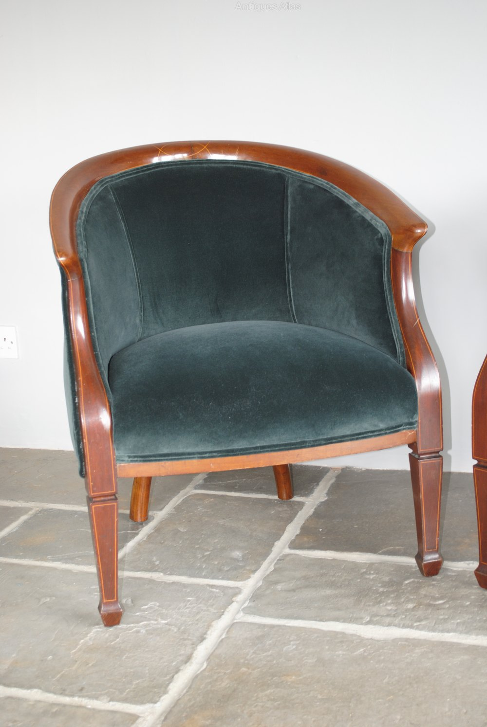 ... Armchairs Antique Armchairs, Occasional Chairs & Stools ... - Pair Of Antique Edwardian Tub Chairs, Armchairs - Antiques Atlas