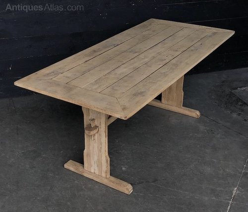 Bleached Oak Refectory Farmhouse Kitchen Dining Table