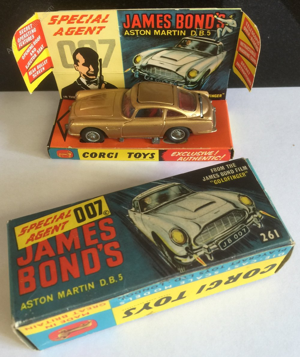 antiques atlas - corgi james bond aston martin db5 circa 1965
